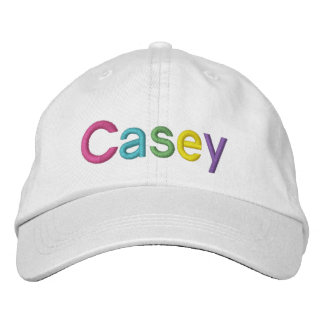 Casey Colorful Embroidered Name on Hat