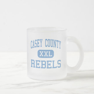 Casey County - Rebels - High - Liberty Kentucky Frosted Glass Coffee Mug