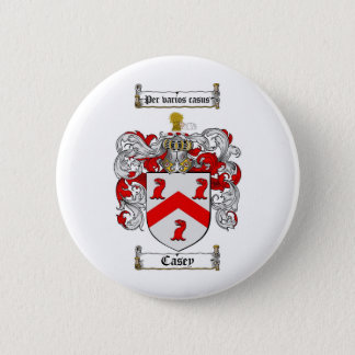 CASEY FAMILY CREST -  CASEY COAT OF ARMS PINBACK BUTTON