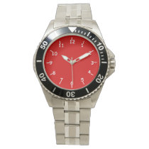 Casey Fire Engine Red Wrist Watch