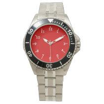 Casey Fire Engine Red Wristwatch