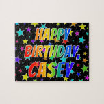 "[ Thumbnail: ""Casey"" First Name, Fun ""Happy Birthday"" Jigsaw Puzzle ]"