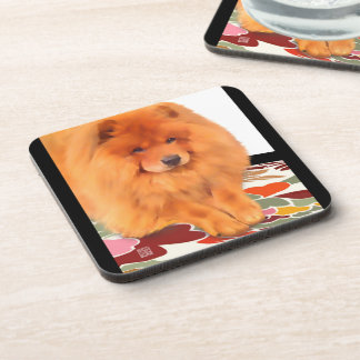 CASEY heARTdog chow Beverage Coaster