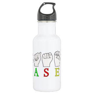 CASEY NAME SIGN ASL FINGERSPELLED WATER BOTTLE