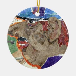 Casey. Round Ceramic Decoration