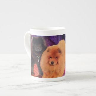 CASEY & SASHA heARTdog bone china mug Tea Cup