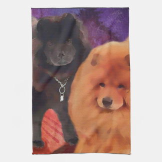 CASEY & SASHA heARTdog  kitchen towel