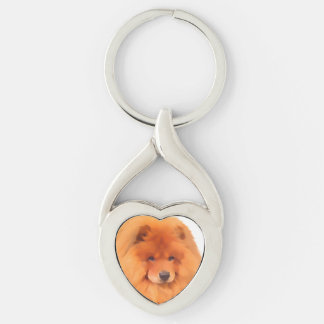 CASEY & SASHA heARTdogs chow Keychains