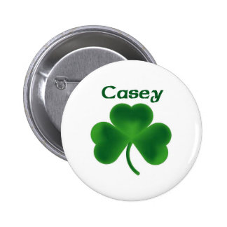 Casey Shamrock Pinback Button