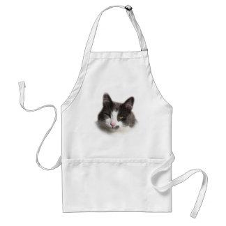 Casey White Grey Cat Adult Apron