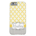 caseYellow Grey Personalized Modern Iphone phone c iPhone 6 Case