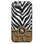caseZebra and LeopardMonogramcase iPhone 6 Case