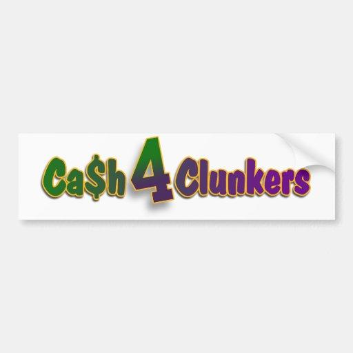 Cash 4 Clunkers Green Bay Packer Bumper Sticker