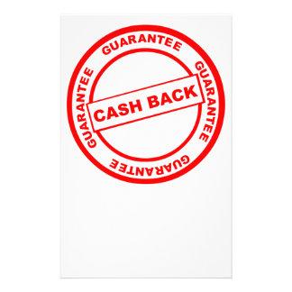 Cash Back Guarantee Stationery
