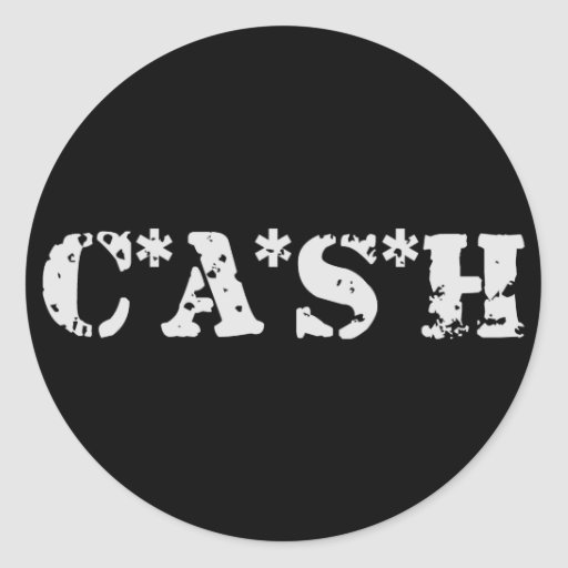 CASH CLASSIC ROUND STICKER