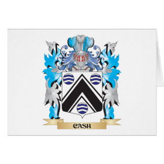 Cash Coat of Arms - Family Crest Stationery Note Card