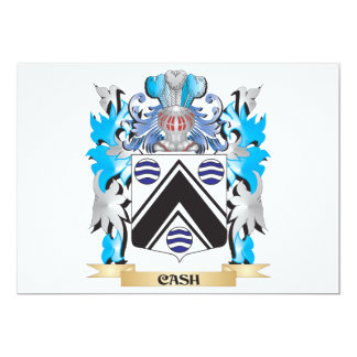 """Cash Coat of Arms - Family Crest 5"""" X 7"""" Invitation Card"""