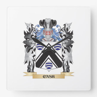 Cash Coat of Arms - Family Crest Square Wallclock
