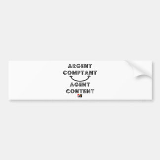 Cash Content Agent Bumper Sticker