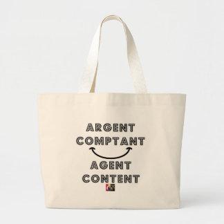 Cash Content Agent Large Tote Bag