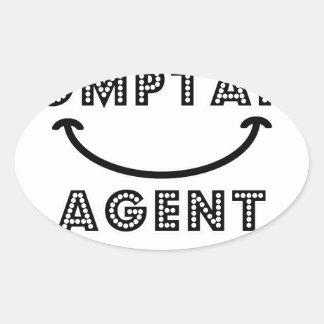 Cash Content Agent Oval Sticker