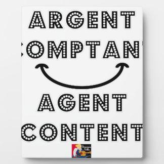 Cash Content Agent Plaque