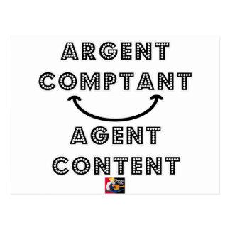 Cash Content Agent Postcard