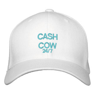 CASH COW 24 7 - CAP by eZaZZleMan Embroidered Baseball Cap
