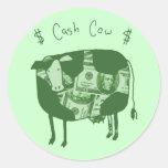 Cash Cow Classic Round Sticker