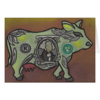 cash cow greeting card