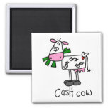 Cash Cow Tshirts and Gifts 2 Inch Square Magnet