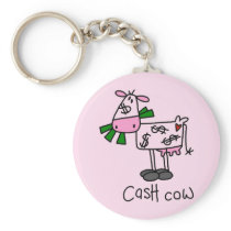 Cash Cow Tshirts and Gifts Keychain
