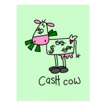 Cash Cow Tshirts and Gifts Postcard