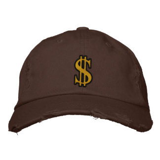 CASH DOLLAR SIGN Embroidered Cap