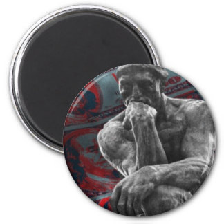 Cash Dollars Auguste Rodin the thinker Magnet