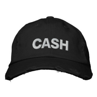 CASH EMBROIDERED BASEBALL CAP