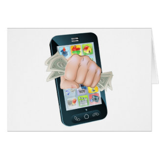 Cash Fist Cell Phone Concept Card