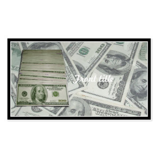 Cash Flow Double-Sided Standard Business Cards (Pack Of 100)