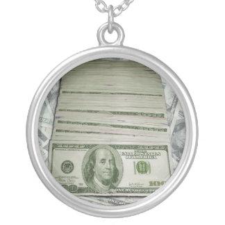 Cash Flow Round Pendant Necklace