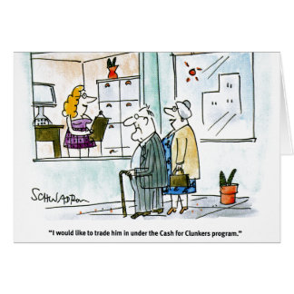 Cash for Clunkers Stationery Note Card