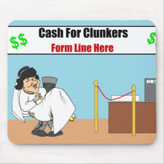 Cash For Clunkers Husband and Wife Mousepad