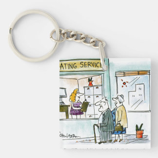 Cash for Clunkers Square Acrylic Keychains