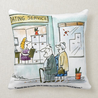 Cash for Clunkers Throw Pillows