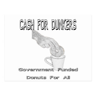 Cash for Dunkers Postcard