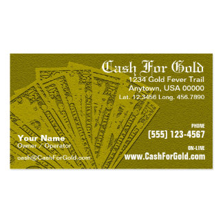 Cash For Gold Business Card