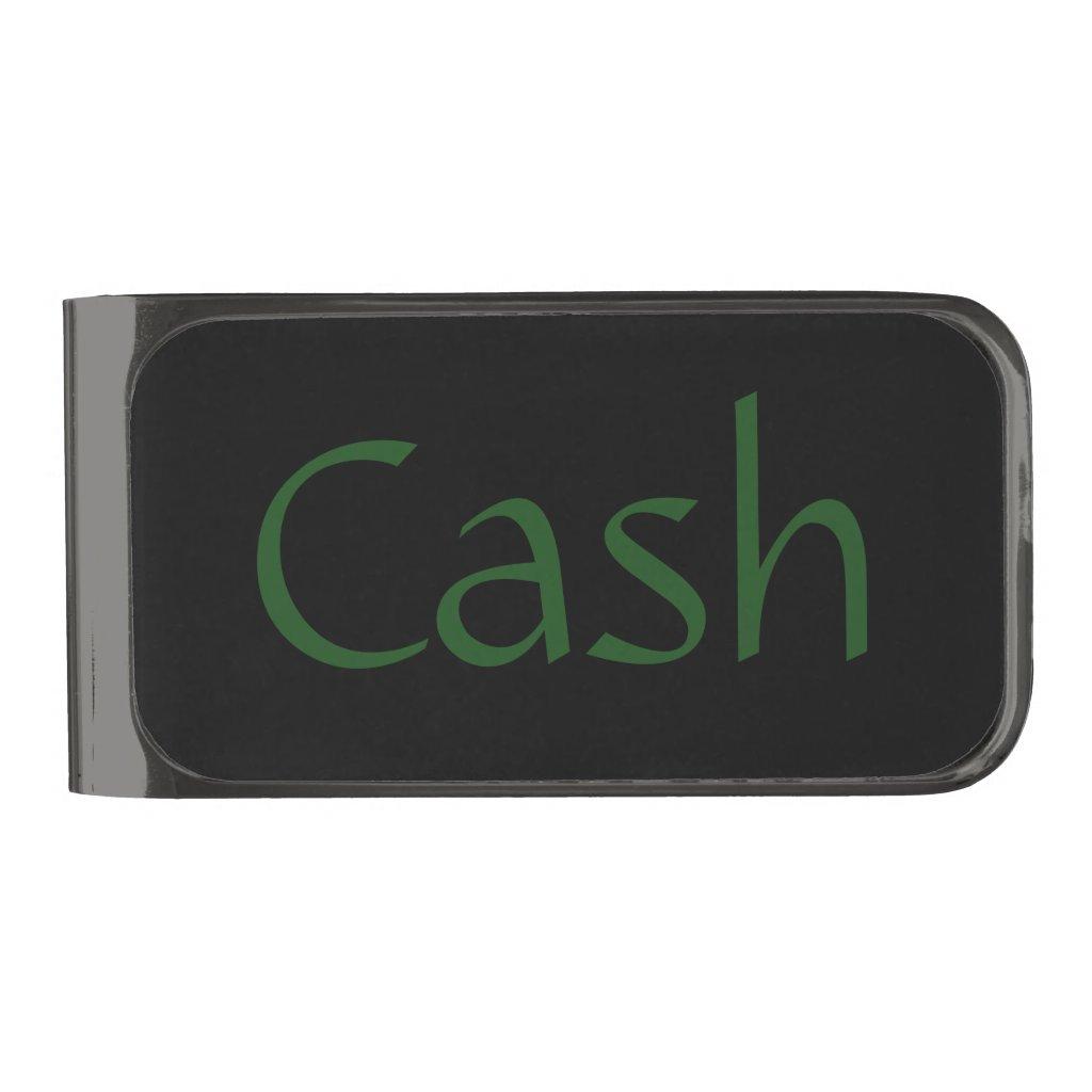 Cash Gunmetal Finish Money Clip