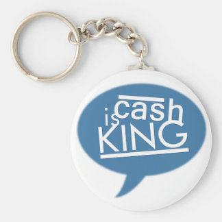 "Cash Is King 2.25"" Round Keychain (Type A)"