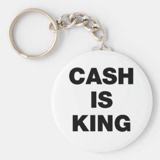 Cash is King Basic Round Button Keychain
