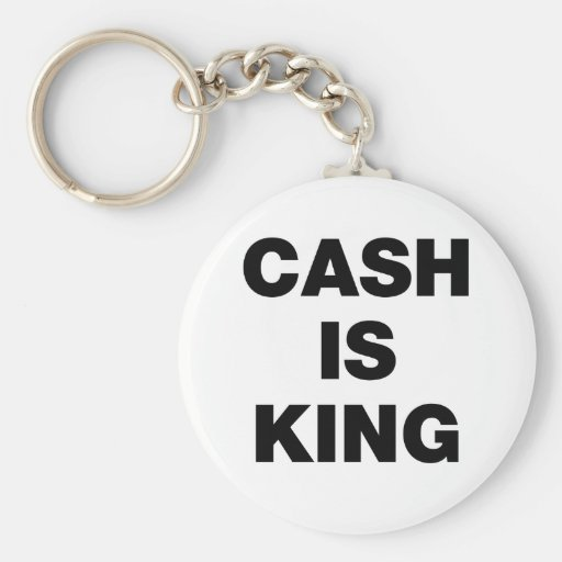 Cash is King Keychain
