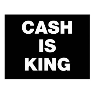 Cash is King Postcard